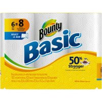 Print a coupon for $0.25 off one pack of Bounty Basic Paper Towels