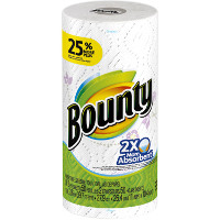 Print a coupon for $0.25 off a roll of Bounty Paper Towels