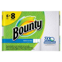Save $0.75 on one pack of Bounty Paper Towels, 6 ct. or larger