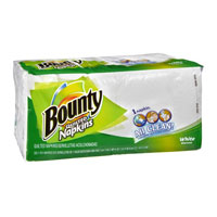 Print a coupon for $0.25 off one package of Bounty Napkins