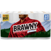 Print a coupon for $0.25 off one roll of Brawny Paper Towels