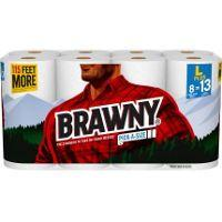 Print a coupon for $1.50 off a pack of Brawny Paper Towels, 8 Large Plus Rolls