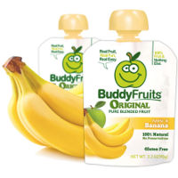 Print a coupon for $0.50 off Bananas when you buy any four Buddy Fruits pouches