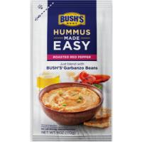 Print a coupon for $1 off One Bush's Roasted Red Pepper Hummus Made Easy