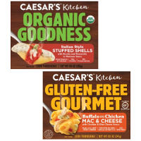 Print a coupon for $1 off any Caesar's Kitchen Gluten-Free Gourmet or Organic Goodness frozen meal