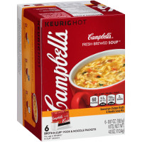 Save $1.50 on a 6-pack of Campbell's New Fresh-Brewed Soup