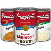 Print a coupon for $0.40 off three Campbell's Condensed Soups