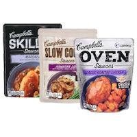 Save $1 on two pouches of Campbell's Skillet, Slow Cooker or new Oven Sauces