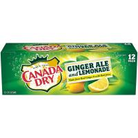 Print a coupon for $0.75 off any 12-pack of cans of Canada Dry Ginger Ale and Lemonade