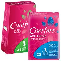 Print a coupon for $2 off any two Carefree products