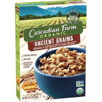 Print a coupon for $1 off two Cascadian Farm Granola: Ancient Grains or Cinnamon Raisin
