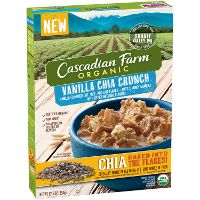 Print a coupon for $1 off a box of Cascadian Farms Vanilla Chai Crunch Cereal
