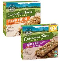 Print a coupon for $1 off a box of Cascadian Farm Sweet + Salty Granola Bars