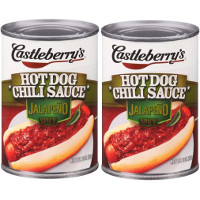 Save $0.55 on two cans of Castleberry's Hot Dog Chili Sauce