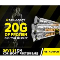 Save $1 on Cellucor COR-Sport Protein Bars