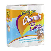 Save $0.25 on one pack of Charmin Basic Toilet Paper, 4 ct or larger
