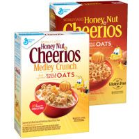 Print a coupon for $0.50 off a box of Honey Nut or Honey Nut Medley Crunch Cheerios Cereal