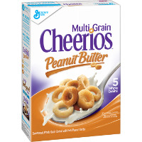 Save $0.75 on one box of Multi Grain Cheerios Peanut Butter or Multi Grain Cheerios
