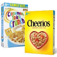 Print a coupon for $1 off two boxes of Cheerios, Cinnamon Toast Crunch, Chex, Lucky Charms and more