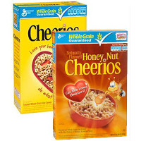 Print a coupon for $1 off two boxes of Original Cheerios, Honey Nut Cheerios, or Multi Grain Cheerios Cereal