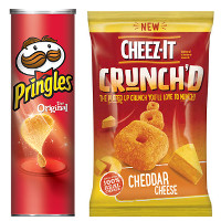 BOGO - Buy one bag of new Cheez-It Crunch'd, get one canister of Pringles Free