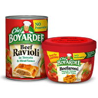 Save $0.75 on any four Chef Boyardee Canned Pasta products