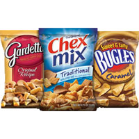 Save 50 cents on two bags of Chex Mix, Chex Mix Muddy Buddies, Chex Mix Popped, Chex Mix Xtreme or Bugles