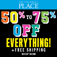 Receive 50-75% off EVERYTHING, plus free shipping - no exclusions at The Children's Place Black Friday Sale!