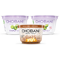 Save $1 on three cups of Chobani Simply 100 and/or Chobani Oats Greek Yogurt