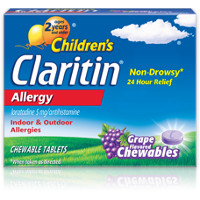 Print a coupon for $4 off Non-Drowsy Children's Claritin Allergy Chewables, 20 count or larger