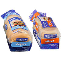 Save $0.55 on any package of Cobblestone Bread Co. Bagels or English Muffins