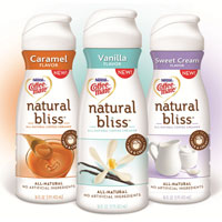 Save $0.75 on one bottle of Coffee-Mate Natural Bliss Liquid Coffee Creamer