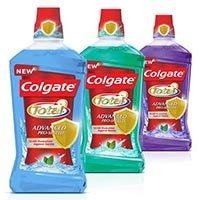 Save $1 on Colgate Total or Colgate Optic White Mouthwash