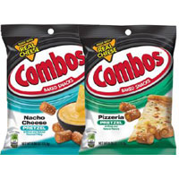 Save $1 on two bags of Combos Snacks (6 oz. or larger)