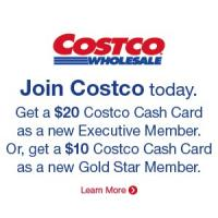 Get a $20 Costco Cash Card