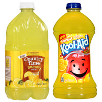 Print a coupon for $0.75 off any two 64oz bottles of Country Time Lemonade or 96oz bottlles of Kool-Aid Lemondade