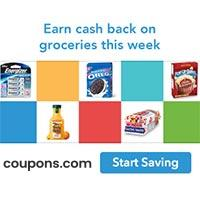 Earn Cash Back from 100's of top grocery brands every time you shop