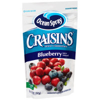 Save $0.50 on one 5oz package of Craisins Blueberry Juice Infused Dried Cranberries