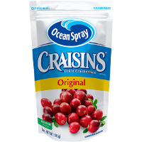 Save $1 on one 5oz package of Craisins Original Dried Cranberries
