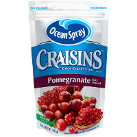 Save $0.50 on one 5oz package of Craisins Pomegranate Infused Dried Cranberries