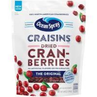 Print a coupon for $4 off two 24oz bags of Ocean Spray Craisins Dried Cranberries