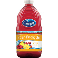 Print a coupon for $1 off one 60-64oz bottle of Ocean Spray Cran-Pineapple Juice
