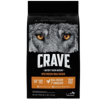 Print a coupon for $3 off a bag of CRAVE Dry Dog or Cat Food