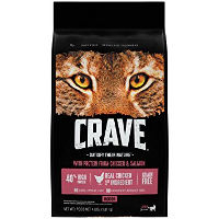 Print a coupon for $5 off a bag of CRAVE Dry Cat Food, 4lb. or larger