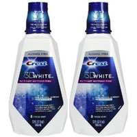 Save $2 on two bottles of Crest 3D White Mouthwash
