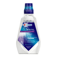 Print a coupon for $0.75 off Crest 3D White Mouthwash, 237ml or larger