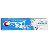 Print a coupon for $0.50 off Crest Complete Toothpaste, 4oz or larger