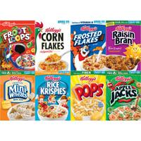 Print a coupon for $2 on any four Kellogg's Cereals - Save on Frosted Flakes, Honey Smacks, Product 19 and more!