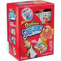 Save $1 on any Danimals Squeezables Lowfat Yogurt, 4-pack