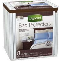 Print a coupon for $2 off Depend Bed Protectors